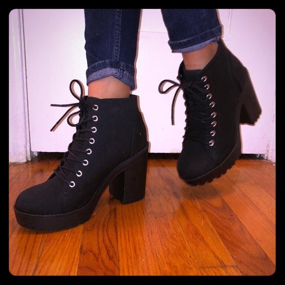 58d01d3d4ab H M Shoes - H M lace up chunky heels
